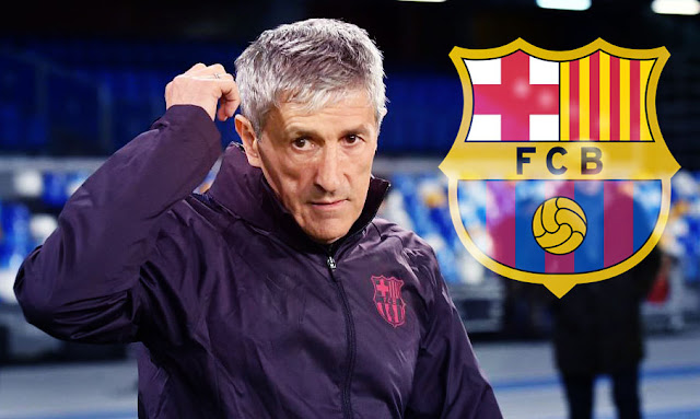 FC Barcelone Josep Maria Bartomeu annonce le départ de Quique Setién