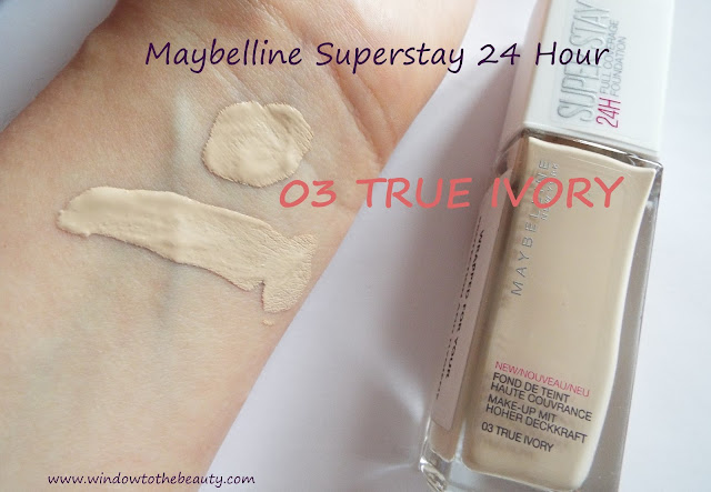 Maybelline Superstay 24 Hour Foundation TRUE IVORY
