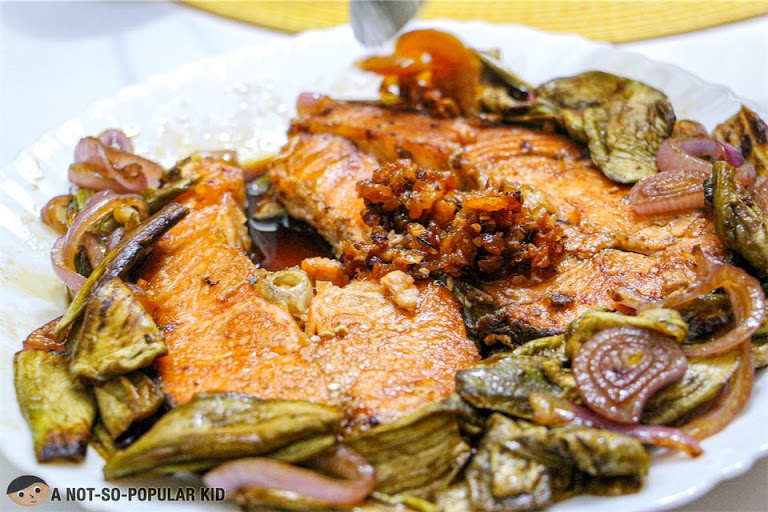 Democrita's Chili Garlic on Fried Salmon