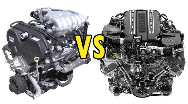 Moteur V6 vs V8