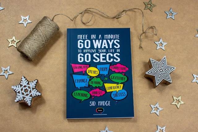 Meee In A Minute Book - 60 Ways To Improve Your Life In 60 Secs ready to wrap as a gift and inspire
