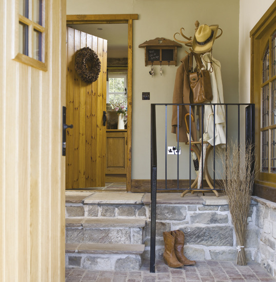 French Country Hallway Ideas Decor: New Home Interior Design: Country Hallway