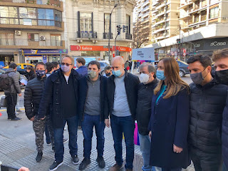 Comuna 14: Larreta, Vidal, Bullrich, Corach, Pérez y Cantera en mesa de campaña.