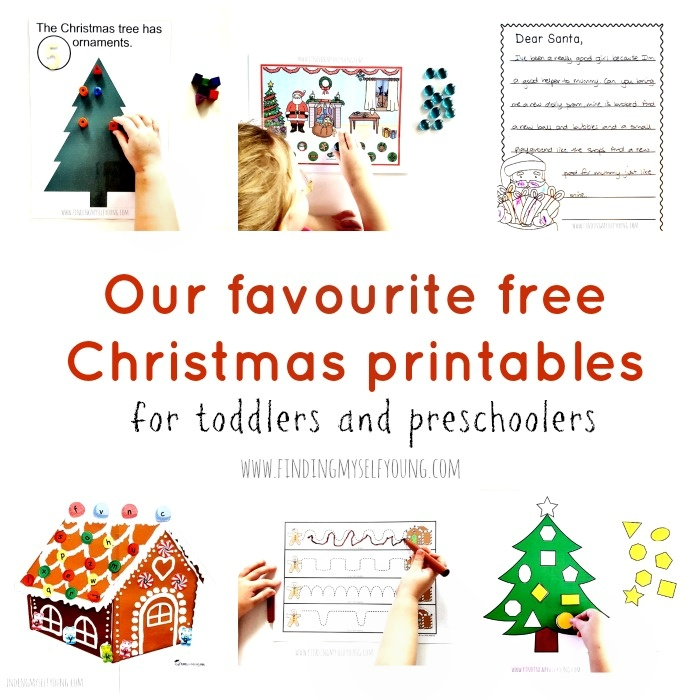 Learn shapes, letters, numbers, counting and more with these free christmas printables