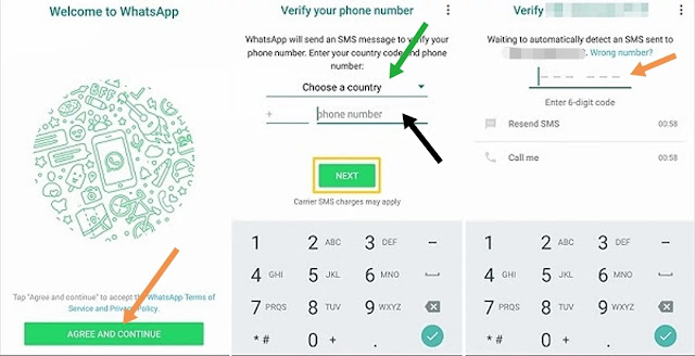 how to use whatsapp, how to create account on whatsapp, how to create whatsapp account