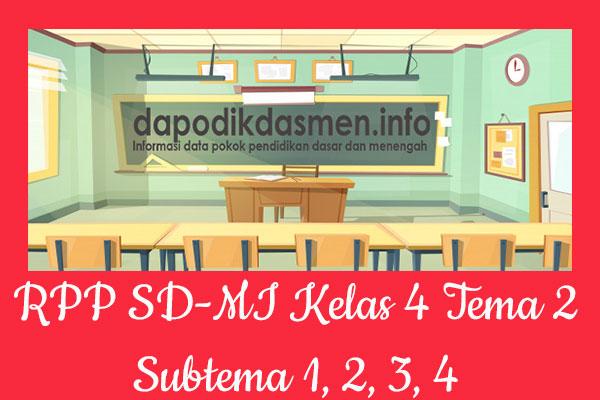 RPP Tematik SD/MI Kelas 4 Tema 2 Subtema 1 2 3 4 Semester 1, Download RPP Kelas 4 Tema 2 Subtema 1 2 3 4 Kurikulum 2013 SD/MI Revisi Terbaru, RPP Silabus Tematik Kelas 4