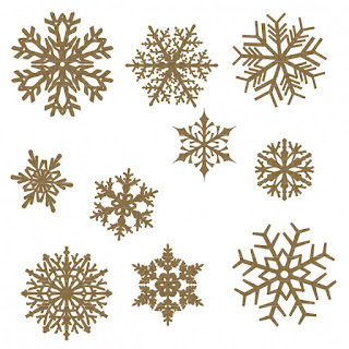 Large Chipboard snowflakes