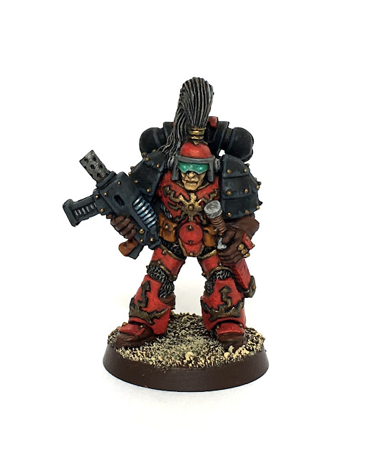 Space marine in Mark 1 Thunder Armour