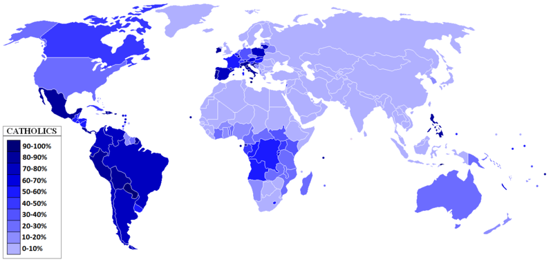 distribution of Catholicism