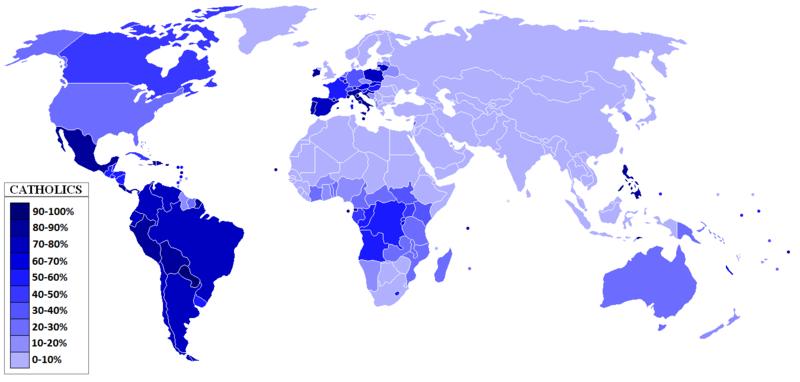 distribution of Catholicism