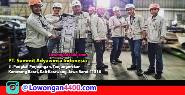 Lowongan Kerja PT. Summit Adyawinsa Indonesia Karawang Maret 2018
