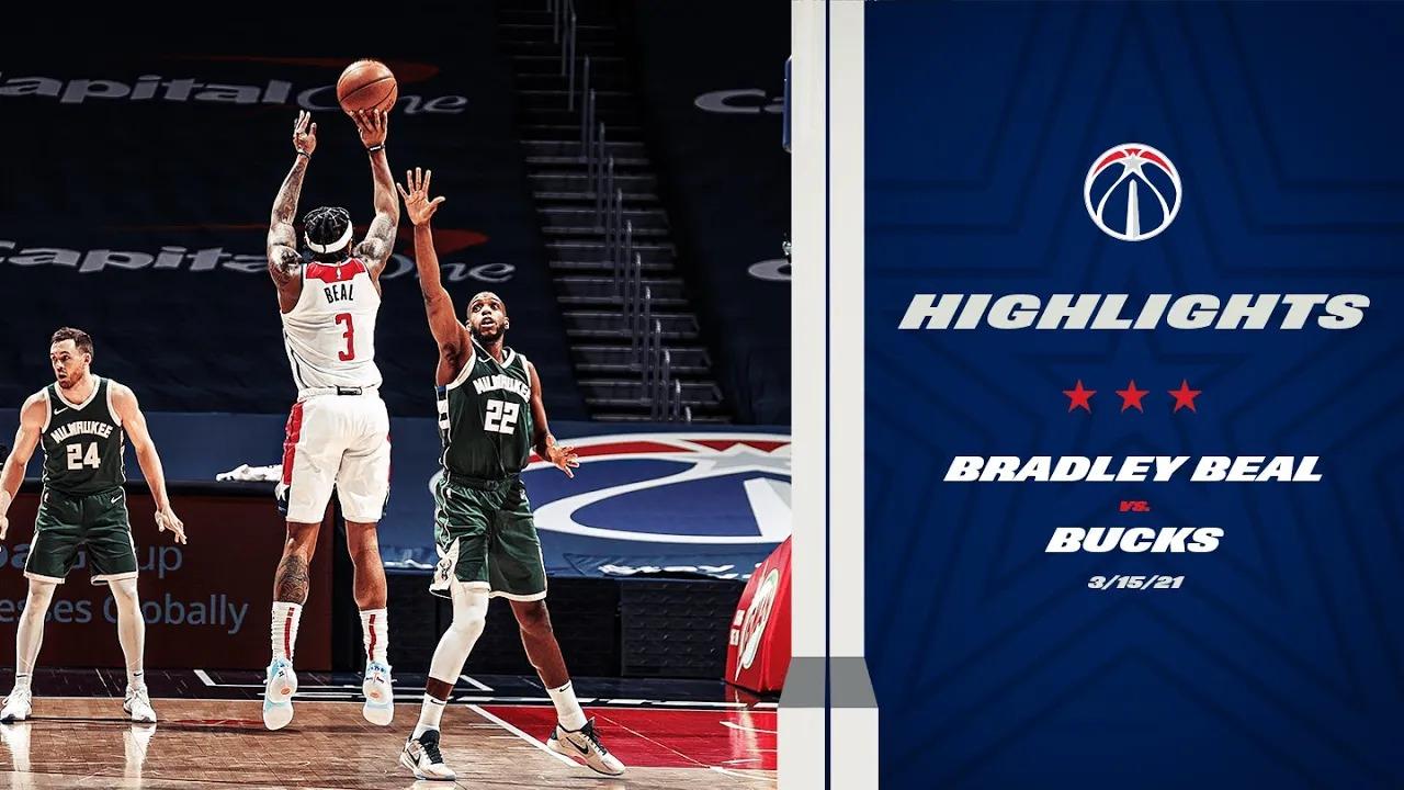 Bradley Beal 37pts 6reb 5ast vs MIL | March 15, 2021 | 2020-21 NBA Season