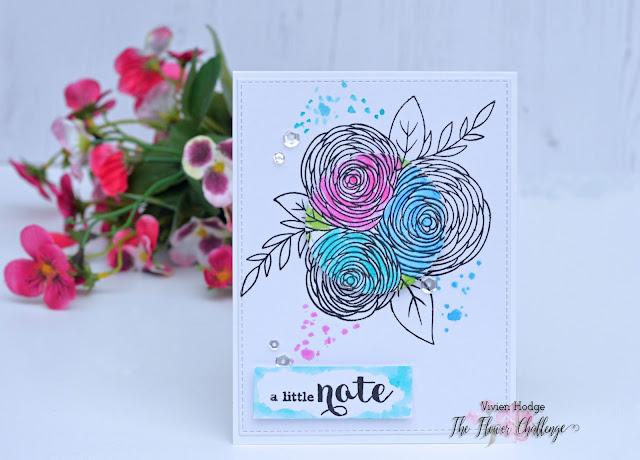 Spotlight stamping, Flower challenge