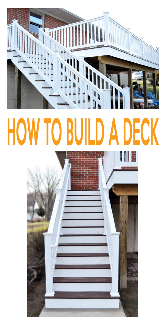 complete instructions on how to build a second story deck with staircase - videos and step by step instructions