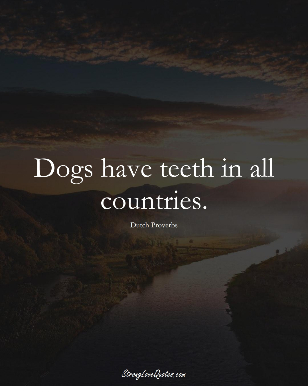Dogs have teeth in all countries. (Dutch Sayings);  #EuropeanSayings