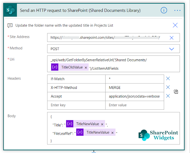 Rename Folder using Microsoft Flow / Power Automate in a Document Library in SharePoint Online