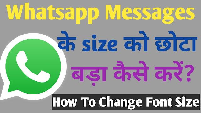 How To Change Whatsapp Font