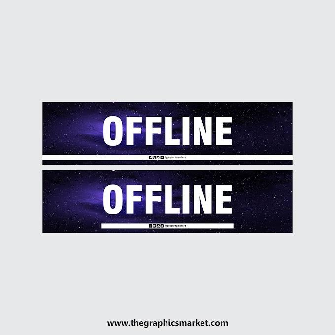 Offline Twitch Banner | Free Download