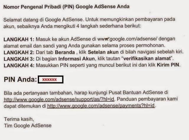 PIN Google Adsense