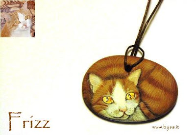 regali originali natale gatti dipinti ciondolo