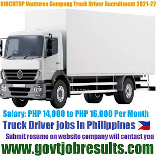 Rhichtop Ventures Corporation Company Driver Recruitment 2021