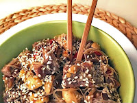 Noodles με χοιρινό teriyaki και πιπεριές - by https://syntages-faghtwn.blogspot.gr
