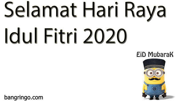 Selamat Hari Raya Idul Fitri - Minion Version
