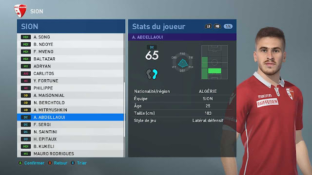 PES 2020 Ayoub Abdellaoui Face by Tiitoo