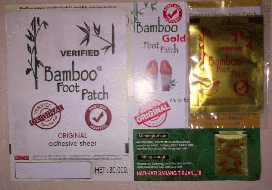 Hny 2250/buah 0812812-378-35, Koyo Kaki Bamboo Footpatch Gold Original Area Sulawesi