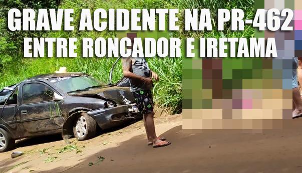 Grave acidente foi registrado na PR-462, próximo à Iretama!