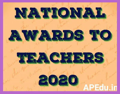 National Awards to Teachers 2020 Instruction Manual for online self nomination.