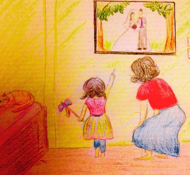 Princess Mom daughter momdaughter drawing art doodle