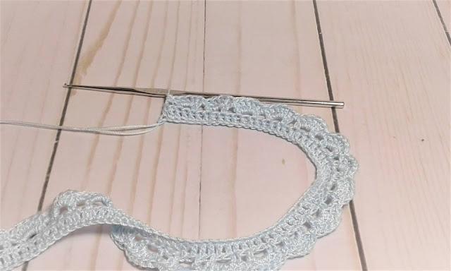 crochet collar row 3