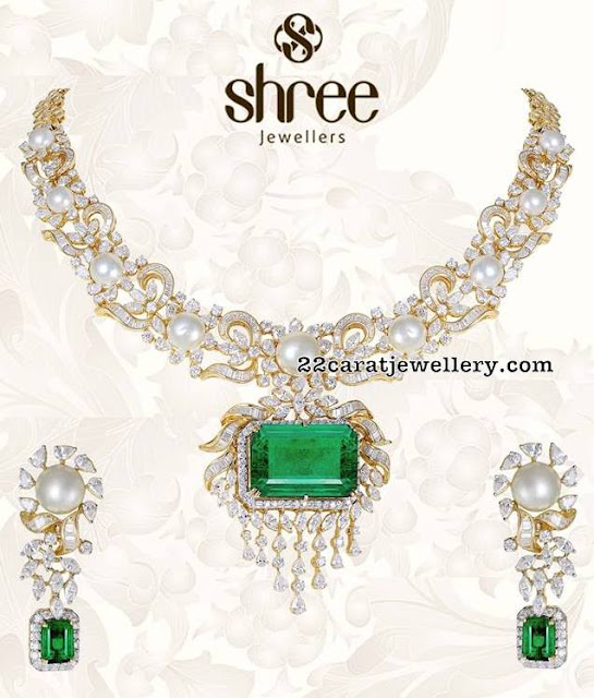 Flat Diamond Stylish Sets by Shree Jewellers