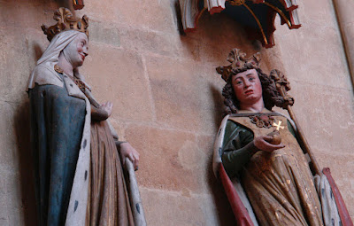 Statues of Adelaide and her second spouse Otto I the Great (called Lotario in Handel's opera) at the Meissen Cathedral