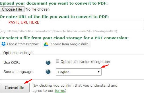 url to pdf online convert