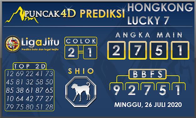 PREDIKSI TOGEL HONGKONG LUCKY7 PUNCAK4D 26 JULI 2020