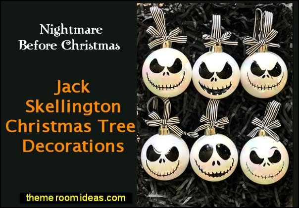 Jack Skellington Christmas Tree Decorations  Nightmare Before Christmas Baubles