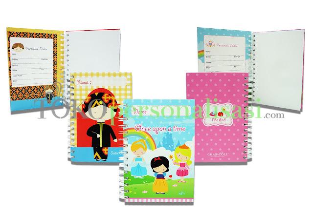 Notebook dengan desain lucu dan dapat di custom/personalisasi dengan nama