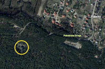 Lokalizacja bloku w okolicy wsi Palmiry