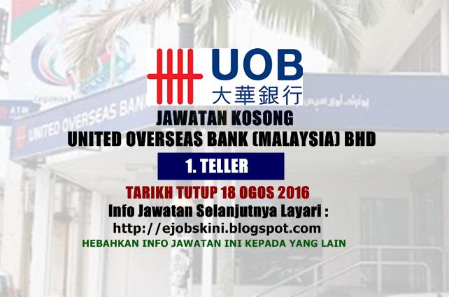 Jawatan Kosong United Overseas Bank (Malaysia) Bhd