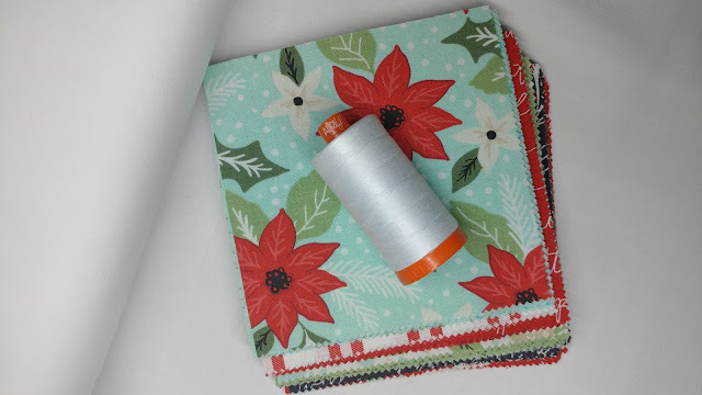 Moda Little Tree fabric and Aurifil thread