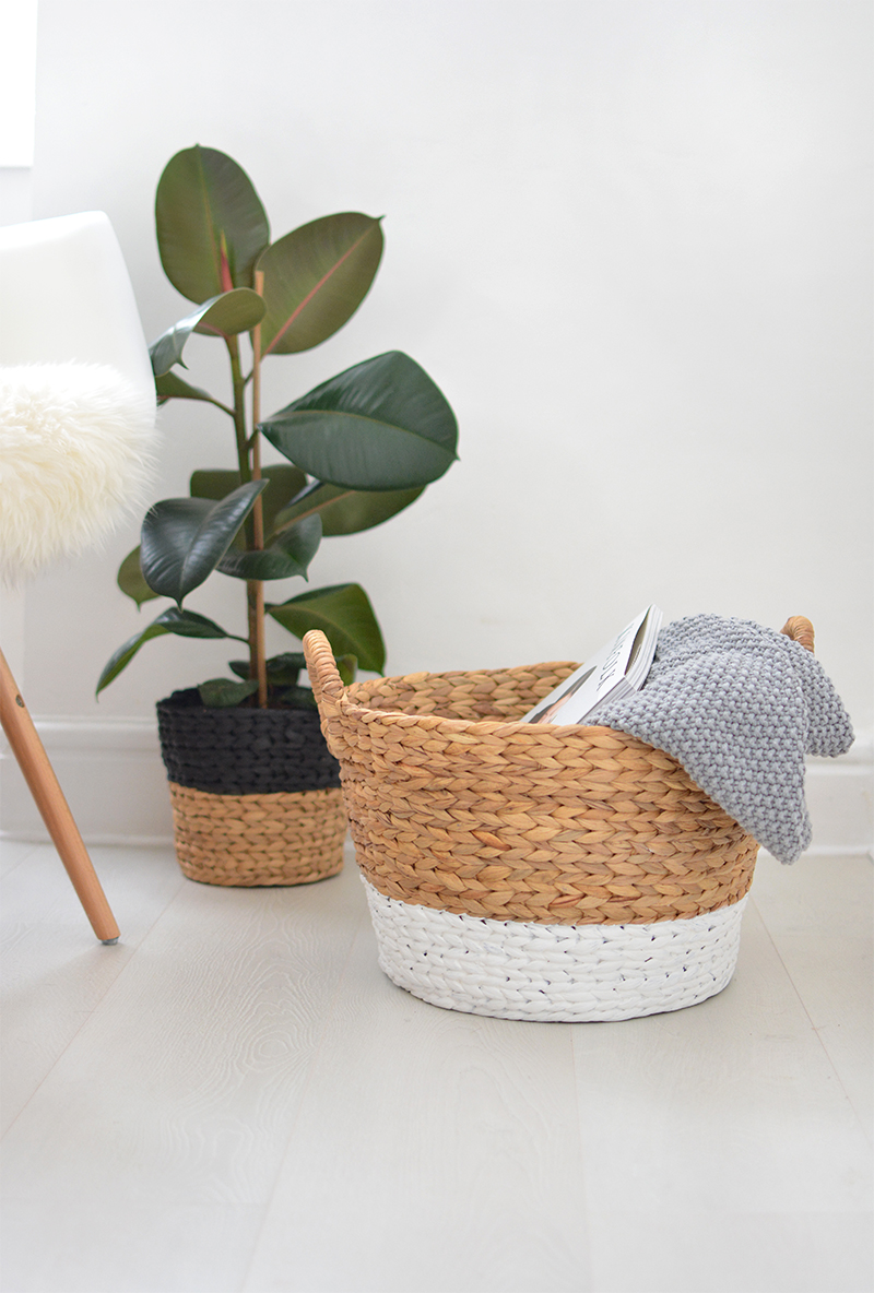 painted basket makeover