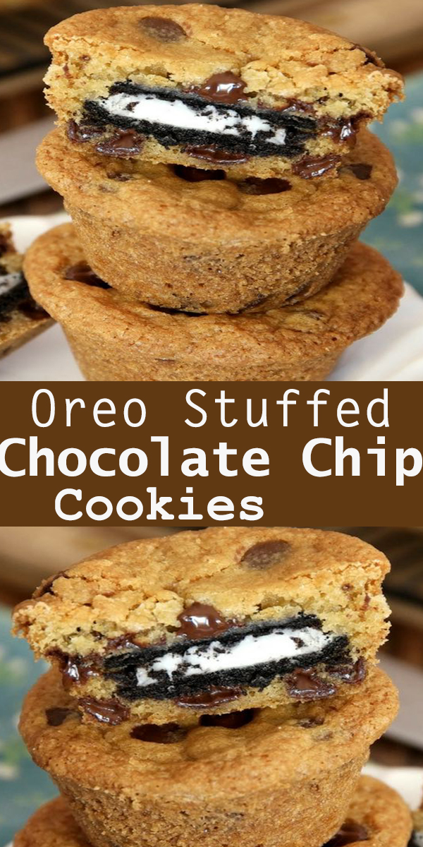 Oreo Stuffed Chocolate Chip Cookies #Oreo #Stuffed #Chocolate #Chip #Cookies #OreoStuffed #ChocolateChip #Cookies #OreoStuffedChocolateChipCookies