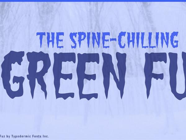 Green Fuz Spooky Display Font