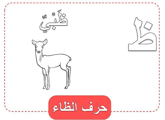 كلمات بحرف الظاء وصور حرف الظاد للتلوين
