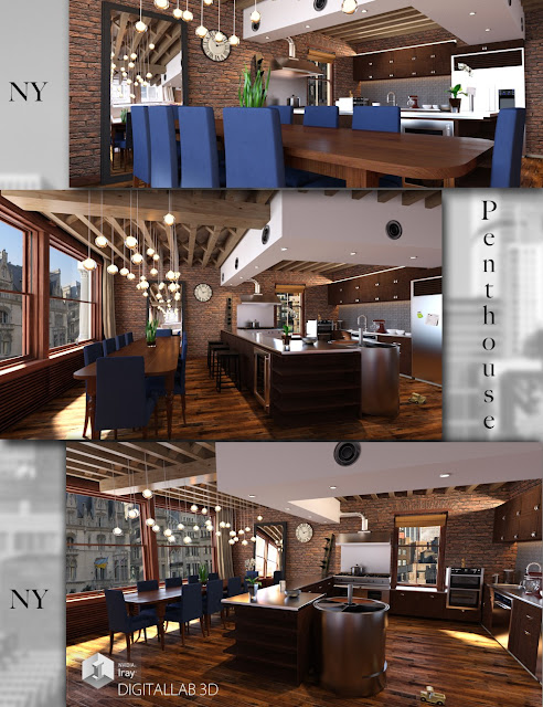 Download daz studio 3 for free daz 3d ny penthouse for Living room 2 for daz studio