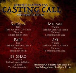 info open casting audisi pemain film pendek untuk mahasiswa