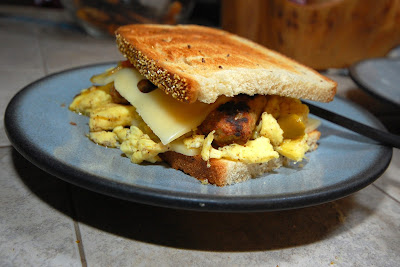 Soft Grilled Cheese Scrambled Eggs And Pesto