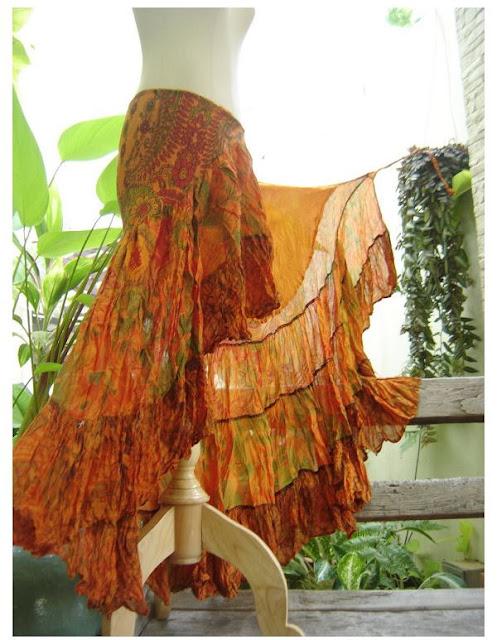 Victorian Vintage Lace Wrap Skirt